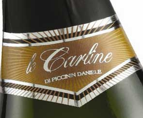 Brut Le Carline, by organic chardonnay grapes, from Venice, Italy