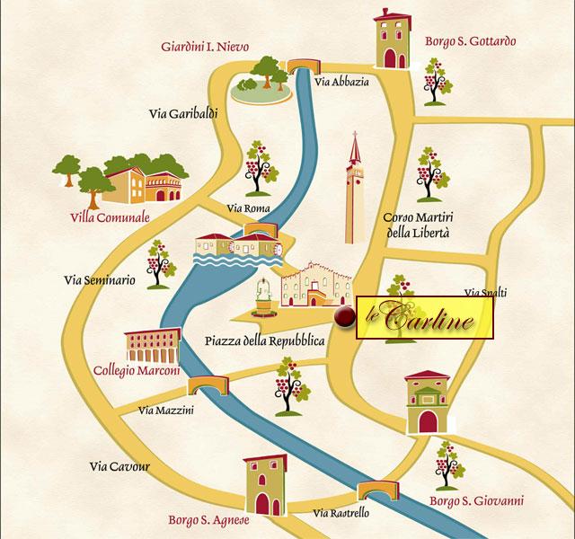 Mappa di Terre dei Dogi in Festa: centro storico di Portogruaro, Venezia