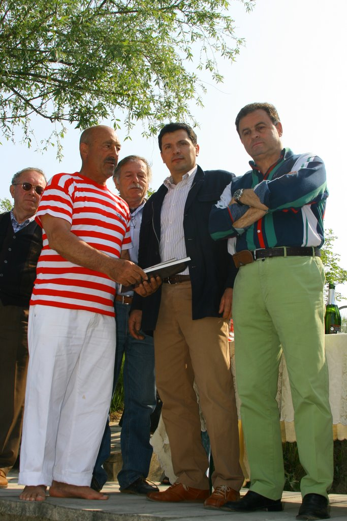 Brindisi in riva al Livenza con Vittorio Orio, Franco Lazzer e Daniele Piccinin: Spumante Extra Dry Le Carline