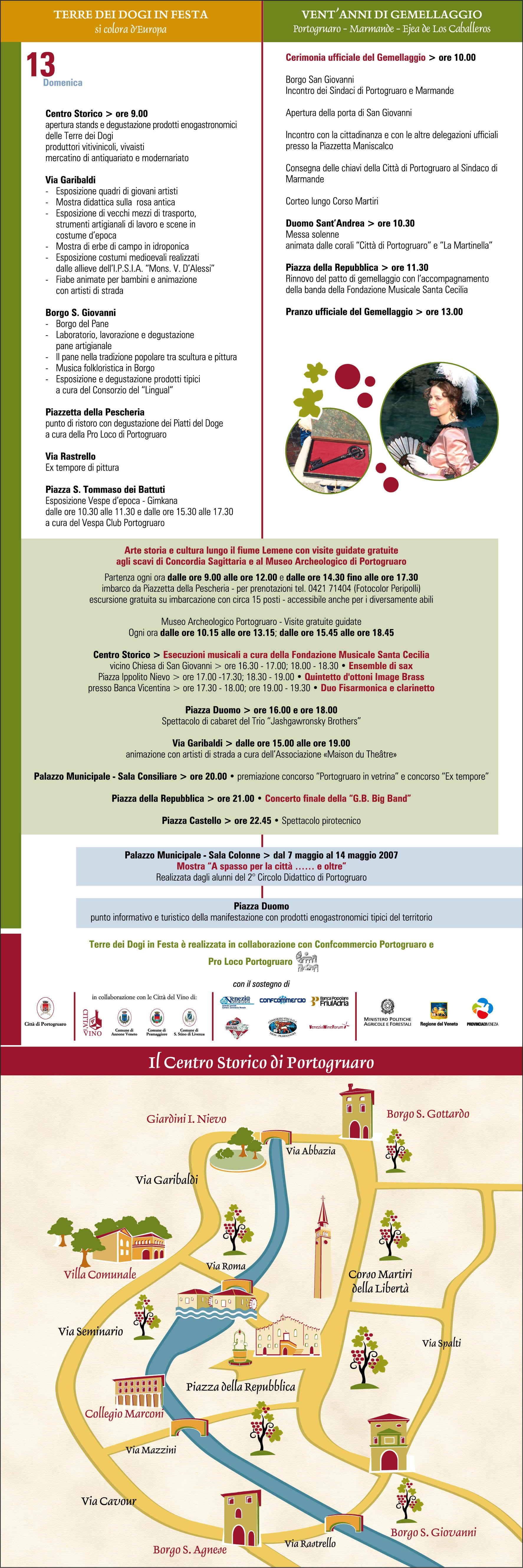 Programma Terre dei Dogi in Festa 2007, Portogruaro - Venezia (840 kb)