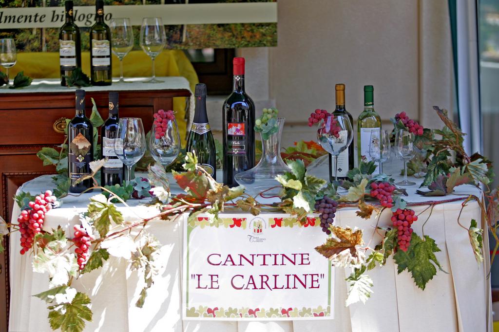 Dettaglio spazio vini DOC Le Carline a Portogruaro