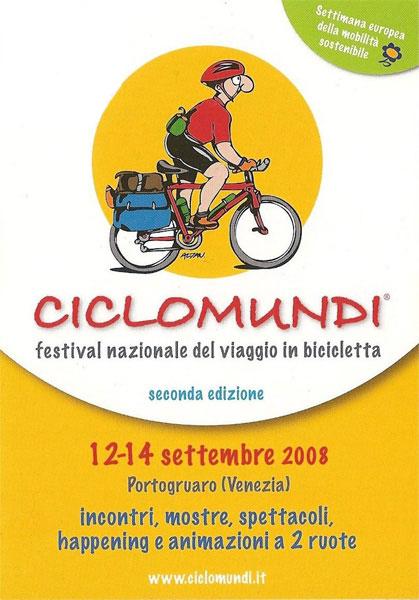 locandina Ciclomundi 2008, fronte