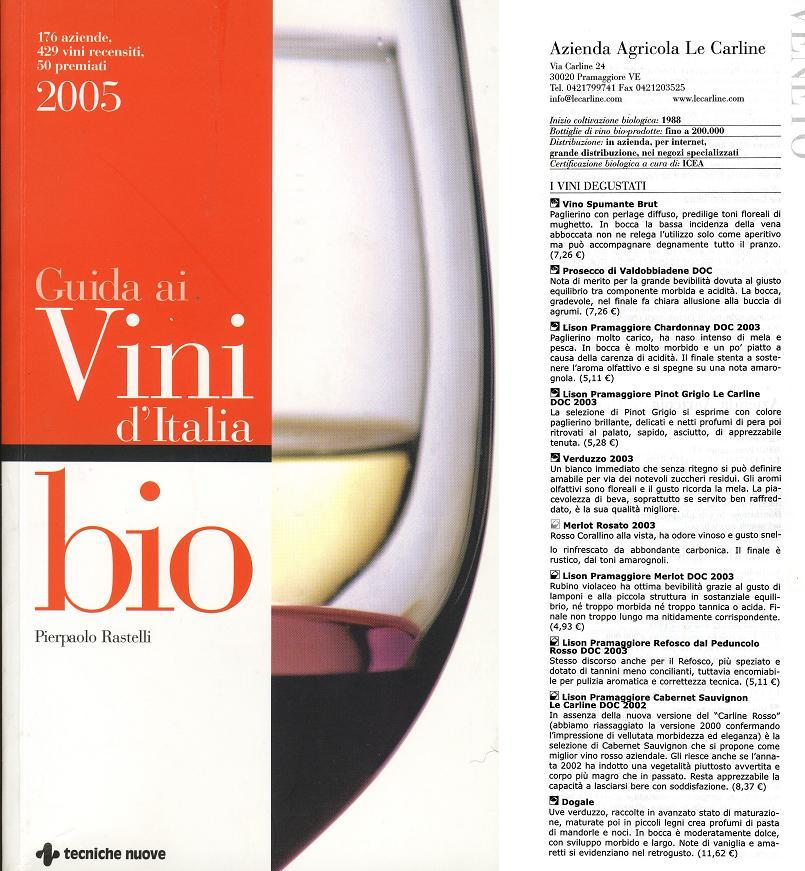 Guida ai Vini d'Italia BIO - Pierpaolo Rastelli