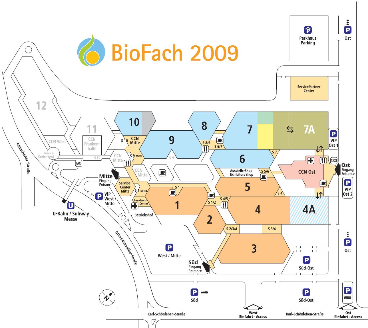 Download mini map of Biofach 2009
