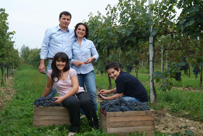 Famiglia Piccinin in vigneto