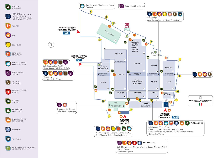 Mappa Vinitaly 2009: dove siamo (Pad. 5 - stand D7)