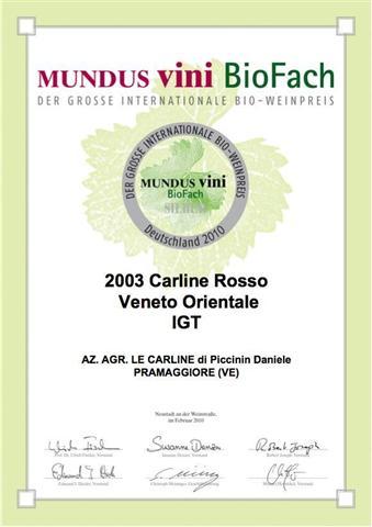 MUNDUSVini Premio Carline Rosso Le Carline