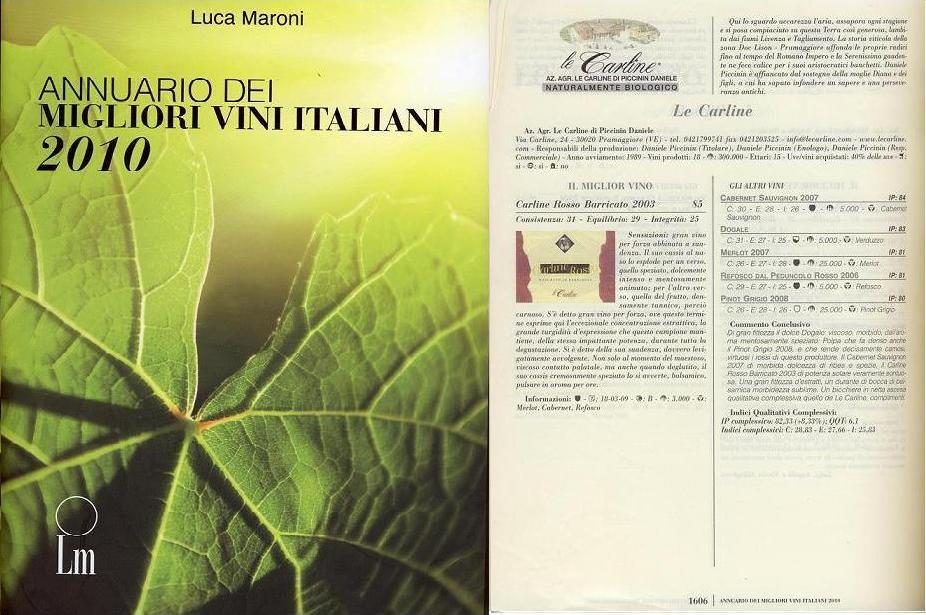 Annuario di Luca Maroni Le Carline