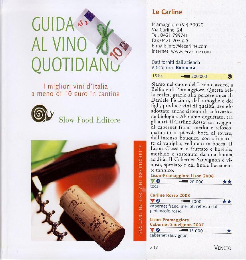 Guida al vino quotidiano Le Carline
