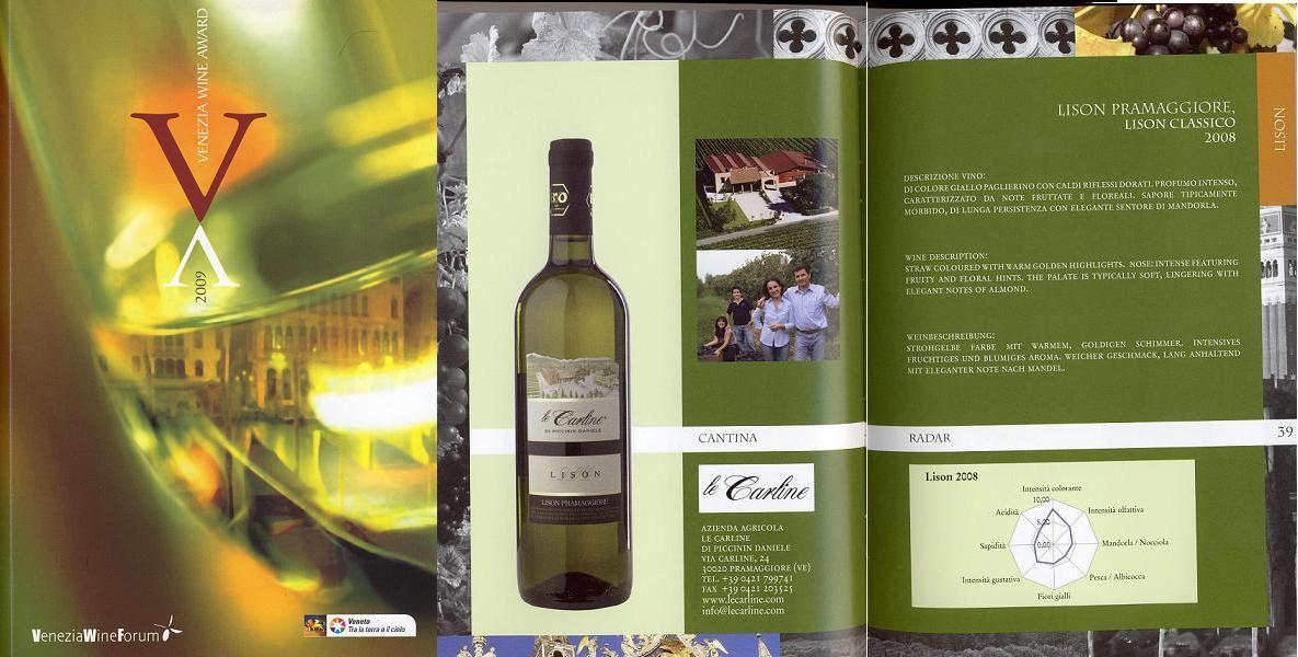 Venezia wine award Lison Le Carline