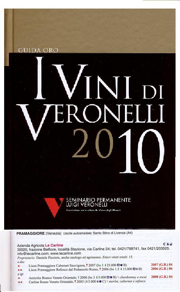Guida i vini di Veronelli 2010 Le Carline