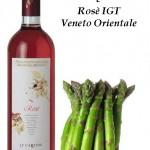 risotto di asparagi e rosè IGT veneto orientale Le Carline
