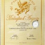 Medaglia d'argento - Cabernet 2009 DOC Lison-Pramaggiore senza solfiti aggiunti (Small)