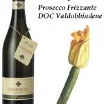 fiori di zucca fritti e Prosecco Frizzante DOC Valdobbiadene