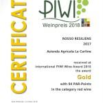 certificato ROSSO