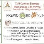 MEDAGLIA D'ARGENTO CAB. S.S. CONCORSO BIODIVINO