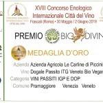 MEDAGLIA D'ORO DOGALE CONCORSO BIODIVINO