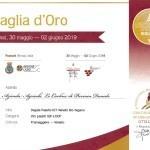 MEDAGLIA D'ORO DOGALE CONCORSO CITTA' DEL VINO